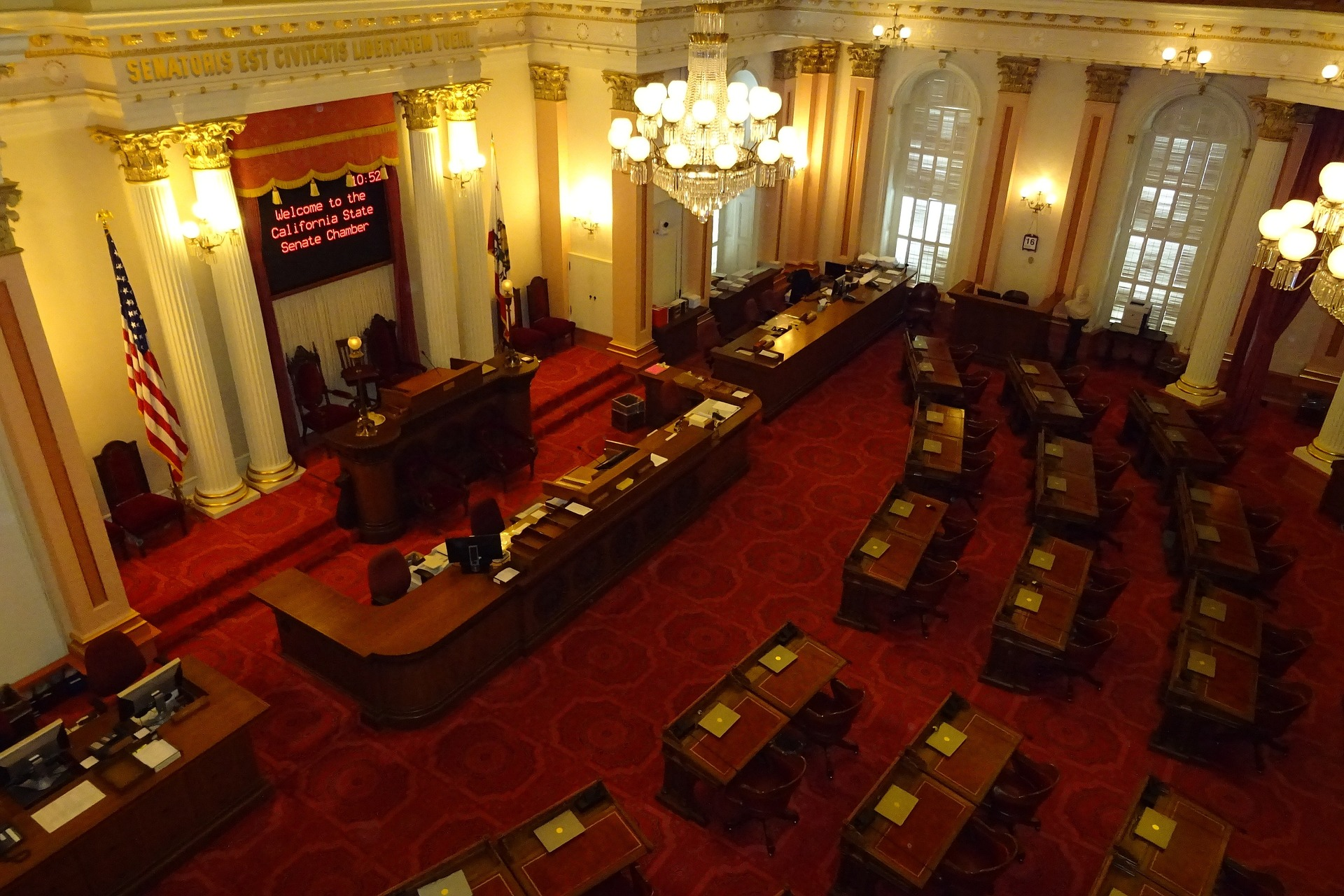 The California Senate Chamber